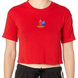 Adidas NWT Crop Top Embroidered